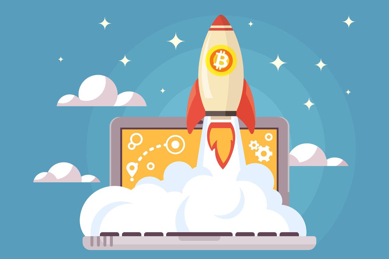 Bitcoin prices rising