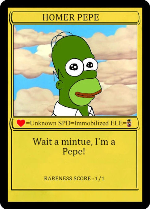 Homer Pepe - most expensive Rare Pepe